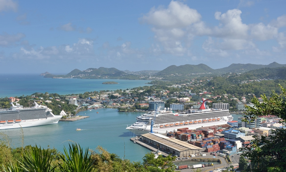 Picturesque views overlooking Cartries from Morne Fortune