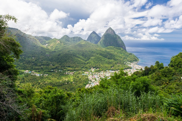 Scenic Soufriere, The First Capital of  Saint Lucia and Tourist Hideout